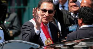 Martin Vizcarra was sworn in as Peru's new president after  Pedro Pablo Kuczynski resigned to avoid impeachment. Photograph:  AFP / Luka Gonzales/Getty Images