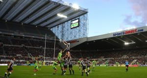 Newcastle Falcons beat Northampton Saints at St James' Park. Photograph: Julian Finney/Getty