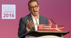 Owen Smith, the former shadow Northern Ireland secretary, who was sacked for  calling for a second Brexit  referendum. Photograph: PA