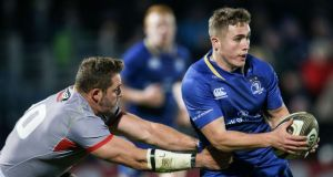 Jordan Larmour is out of Leinster's Champions Cup quarter-final against Saracens. Photograph: Gary Carr/Inpho