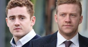 Paddy Jackson (left) has pleaded not guilty to rape and sexual assault; Stuart Olding (25) denies one count of rape.