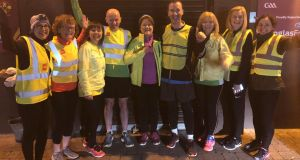 Members of St Oliver Plunkett Eoghan Ruadh GAA Club and their running mentors as they prepare for their first 5k after completing their beginners running programme.