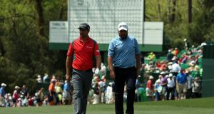 Pádraig Harrington  and Shane Lowry have yet to qualify for next week's US Masters at Augusta.  Photograph: Getty Images