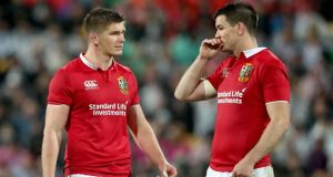 Johnny Sexton and Owen Farrell, those uber competitive international rivals and two-time Lions team-mates, will both be making their 60th appearances in the competition. Photograph: Dan Sheridan/Inpho