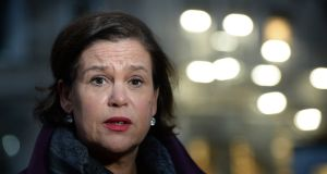 "Mary Lou McDonald: ""I believe the powersharing institutions are the best, the only option to chart a way forward together; to navigate the big societal change we face.""  File photograph: The Irish Times"