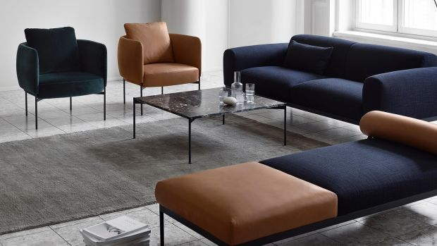 The elegantly formed Bon sofa is from Adea furniture, a Finnish fabricator that is exclusive to Blackrock-based Nordic Elements, priced from €3,565.