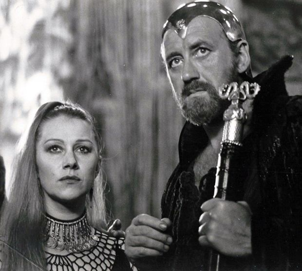 Helen Mirren and Nicol Williamson in Excalibur. Photograph: Orion Pictures