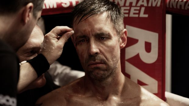 Paddy Considine as middleweight boxing champion Matty Burton in Journeyman. In preparation for the role, Considine trained with Dominic Ingle, the son of Irish boxing manager Brendan Ingle, and the head trainer at the Sheffield gym. Photograph: StudioCanal