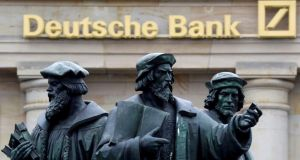 Deutsche Bank shares have fallen about 29 per cent this year. Photograph: Kai Pfaffenbach/Reuters