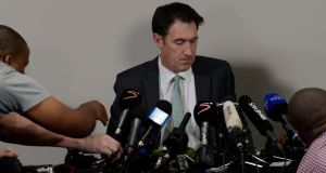 James Sutherland the Cricket Australia CEO during the Australian press conference in Johannesburg on Tuesday. Photograph: Getty Images