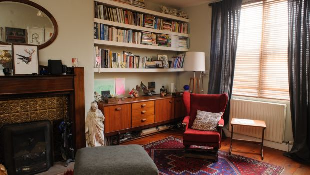 The livingroom of Niamh McCann's home. Photograph: Eoin Rafferty
