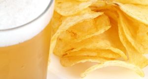 Good quality ready-salted crisps are a good bet for a crisp, clean pils or a light pale ale.