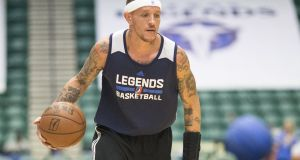 Delonte West: suffered with  bipolar disorder that eventually cost him his NBA career. Photograph: Michael Mulvey/Washington Post/Getty Images