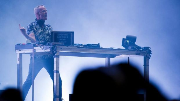 Fatboy Slim: at Life Festival. Photograph: Josep Lago/AFP/Getty