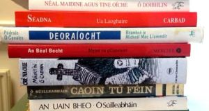 Some of the books included in Úrscéalta na Gaeilge. Photograph: courtesy of loveleabhargaeilge.com