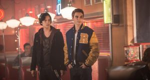 Cole Sprouse as Jughead Jones and KJ Apa as Archie Andrews in 'Riverdale'. Photo: Diyah Pera/The CW Network
