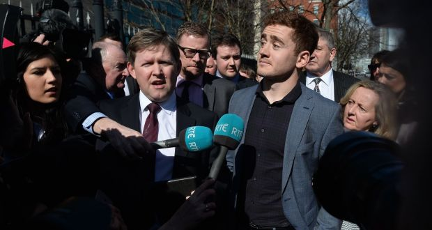 Ulster and Ireland rugby player Paddy Jackson (26) outside Belfast Crown  Court on Wednesday