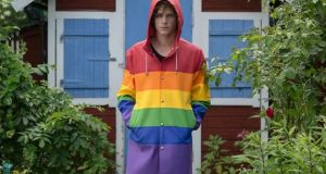 Stutterheim's rainbow rain jacket will be sure to cheer you up in the drizzle