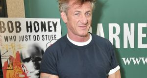 Actor  Sean Penn discusses his new book Bob Honey Who Just Do Stuff: A Novel  at Barnes & Noble,  Union Square,  New York City. Photo by Michael Loccisano/Getty Images