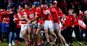 "Cuala players celebrate their  All-Ireland club hurling final win. The report says: ""It is imperative  the Association creates separate and distinct playing seasons for intercounty and club championships."" Photograph: James Crombie/Inpho"