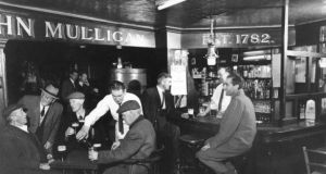Mulligan's of Poolbeg Street, Dublin, in 1953. Irish pubs have been closed on Good Friday since 1927.
