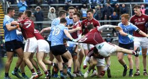 Galway  obviously got under Dublin's skin in the final league game at Salthill,  sufficiently so for it to turn into a wrestling match down the stretch. Photograph: Lorraine O'Sullivan/Inpho