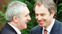 The determination of Bertie Ahern and Tony Blair, allied to the patience of Senator George Mitchell, pulled enough people over the line to make the Belfast Agreement possible 20 years ago.  Photograph: Crispin Rodwell/Reuters
