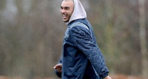 Simon Zebo: returns from injury for what will be his  farewell European game for Munster at Thomond Park. Photograph: Bryan Keane/Inpho