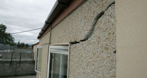 More than 10,000 homes completed between January 1997 and December 2013 in Dublin, as well as in Meath, Kildare and Offaly have been affected by pyrite. Photograph: Frank Miller