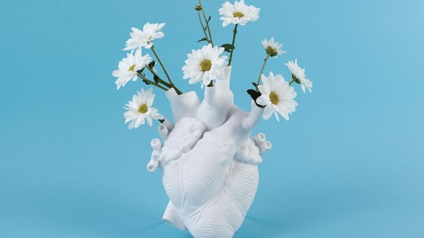 Love In Bloom porcelain-made human heart vase will be available through online store Made in Design later this month.
