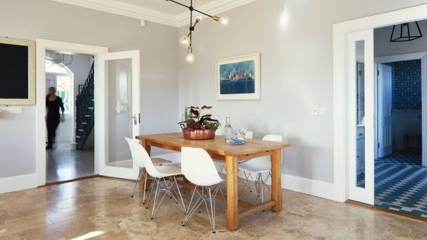 Open plan dining area in the kitchen. Photograph: Philip Lauterbach