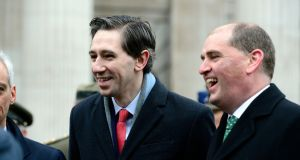 Minister for Health Simon Harris  pictured after a 1916 commemoration ceremony on Easter Sunday, at the GPO in Dublin. Photograph: Cyril Byrne/The Irish Times
