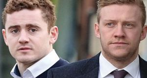 After a 42-day trial at Belfast Crown Court, Paddy Jackson  (left) and Stuart Olding were found not guilty of raping a then 19-year-old woman in 2016.