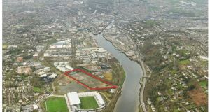 The 11.3-acre site in Cork's south docklands is back on the market on the instructions of receivers for €8.5 million