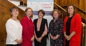 Anna Gunning, of Children in Hospital Ireland; Eilish Hardiman, of Children's Hospital Group; Prof Mary McCarron, TCD School of Nursing and Midwifery; Dr Maria Brenner, chair of CHI; and Barbara Wren, psychologist.