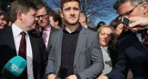 Luke Rossiter sent a tweet saying he was 'delighted for Paddy Jackson,' before referring to the complainant in the case in a derogatory manner.