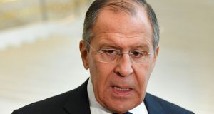 Russian foreign minister Sergey Lavrov: he said there were other possible explanations for the poisoning Photograph: AP Photo