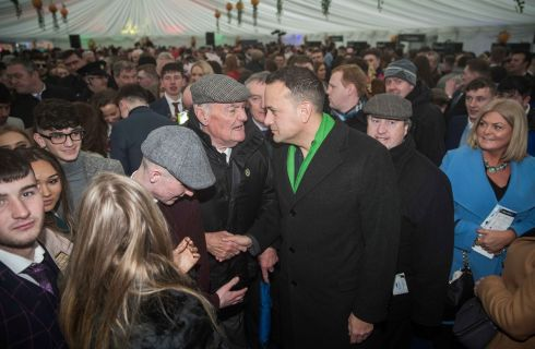 Taoiseach Leo Varadkar meets racegoers at Fairyhouse.  Photograph: Morgan Treacy/Inpho