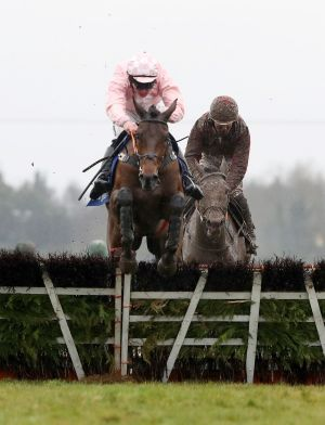 Andrew Lynch onboard Ah Littleluck comes home to win the Fairyhouse Steel Handicap Hurdle. Photograph: Bryan Keane/Inpho