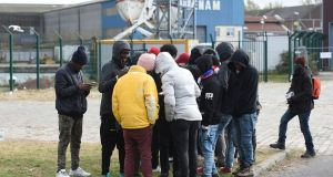 Migrants from Ethiopia in Calais. 'Ireland could become a sort of Calais-style camp'. Photograph: Joe Giddens/PA
