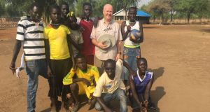 Fr Tony O'Riordan in South Sudan where he is charged with building schools for thousands of children