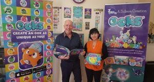 Toy creators Luz and Noel Donegan: The couple's original idea was for a hybrid digital and real world play product that allowed children to create a highly personalised book.