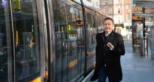 Radio presenter and comedian Mario Rosenstock:  he uses the Luas and taxis as he cannot drive. Photograph: Dara Mac Dónaill