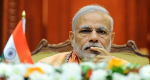 Indian prime minister Narendra Modi: said issues surrounding fake news should be dealt with by the Press Council of India.  Photograph: Ishara S Kodikara/AFP/Getty