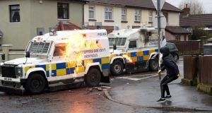 The outbreak of violence in Derry on Easter Monday during an illegal dissident republican parade is a sinister development that should concentrate the minds of the major political parties in the North. Photograph: Niall Carson/PA Wire
