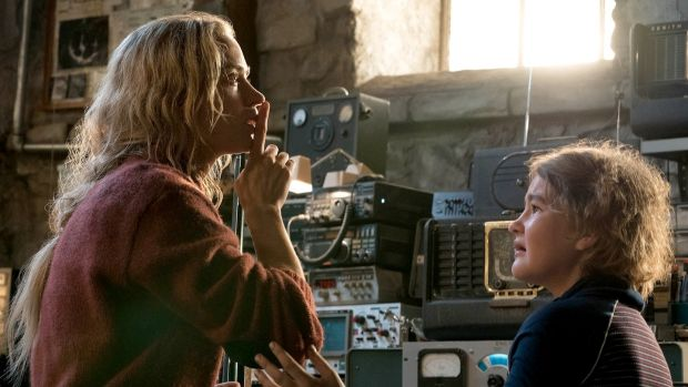 Emily Blunt and Millicent Simmonds in A Quiet Place