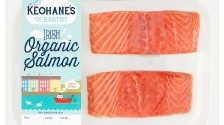 "Keohane's of Bantry's Irish Organic Salmon Darnes, which cost almost €28 a kilo, for example, notes that they have been farmed ""off the coast of Ireland""."