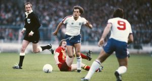 Former England midfielder Ray Wilkins has died aged 61. Photograph: Steve Powell/Getty