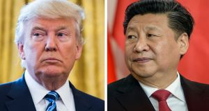 US president Donald Trump  and Chinese president Xi Jinping: senior ministers on both sides have hinted at the scope for a negotiated compromise. Photograph: JIm Lo Scalzo/Filip Singer/EPA