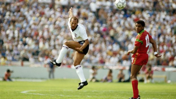 Ray Wilkins in action against Morrocco in the 1986 World Cup Group, on June 6th. During the game he became the first England player to be sent off in the World Cup finals. Photograph: Mike King/Getty